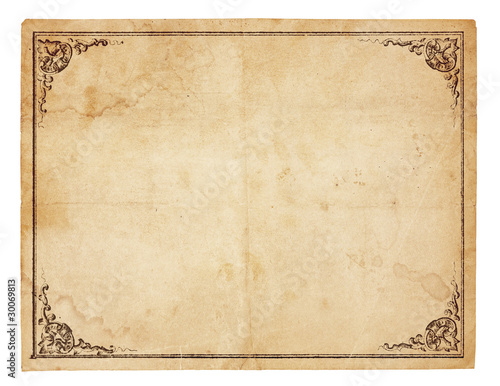 canvas print picture Blank Vintage Paper With Antique border