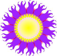 The spring sun