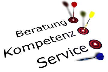 Beratung - Kompetenz - Service - Darts