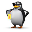 Cool drink with 3d Penguin