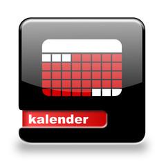 Button spare Kalender schwarz rot