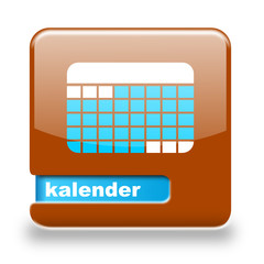 Button spare Kalender braun blau