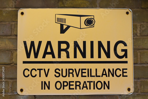 warning sign CCTV surveillance