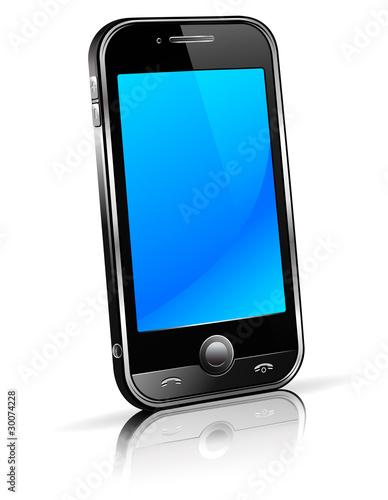 Cell Smart Phone 3D with reflection