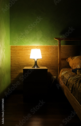 Lamp in a sleeping room