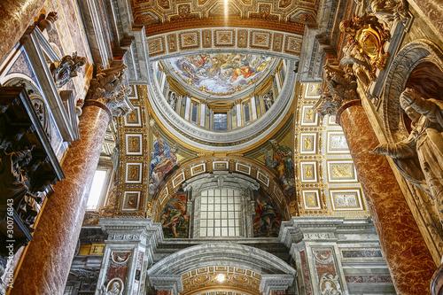 Foto op Canvas Rome Interior of St Peter's Basilica