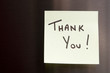 Hand Written Thank You Note on a post-it