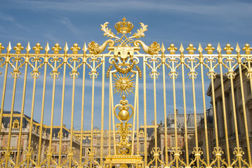 Versailles Palace Park golden Gate Detail
