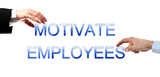 Motivate employees words poster