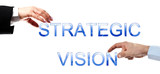 Strategic vision words poster