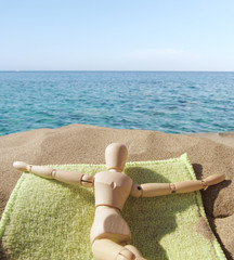 Puppet on holiday