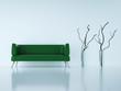 3d Rendering Sofa grün