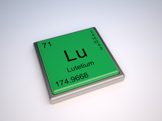 Lutetium chemical element of the periodic table with symbol Lu