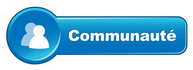 """Bouton Web """"COMMUNAUTE"""" (internet réseau social partager forum)"""
