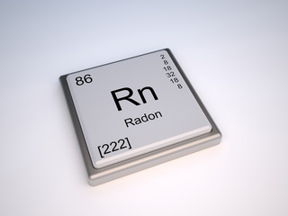 Radon chemical element of the periodic table with symbol Rn