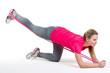 fitnessübung mit dem theraband