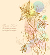 Abstract creeting card flower background