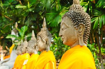Buddha statues at Wat Yai Chai Mongkol Temple