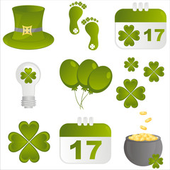 set of 9 st. patrick's day icons