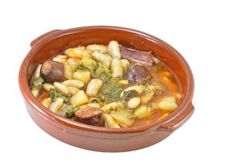 Cazuela de pote asturiano.