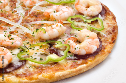 シープードピザ