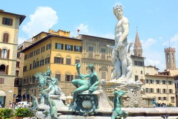 Neptune fountain Piazza della Signoria, Florence, Italy