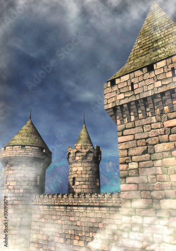 fantasy castle background