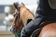 Riding an horse
