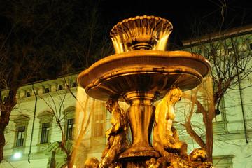 Piazza Fontana e Arcivescovado a Milano, Italia