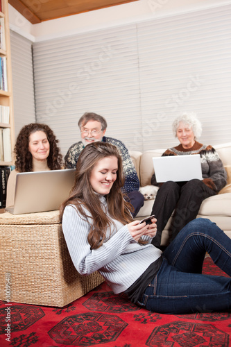 Family with wireless technology
