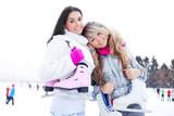 Fototapety two girls ice skating