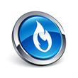 icône bouton internet feu