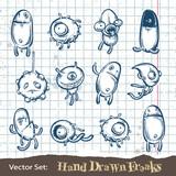 Fototapety Set of hand drawn freaks