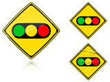 Variants a Traffic lights - road sign