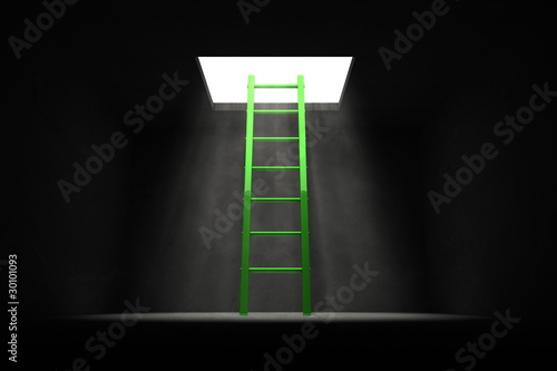Exit the Dark - Green Ladder to the Light