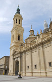 View of Pilar's cathedral in Zaragoza, Spain