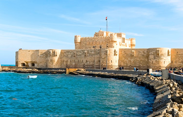 the fortress in Alexandria, Egypt