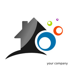 Logo maison ronds couleur