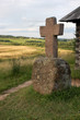 Picturesque valley with a memorial cross