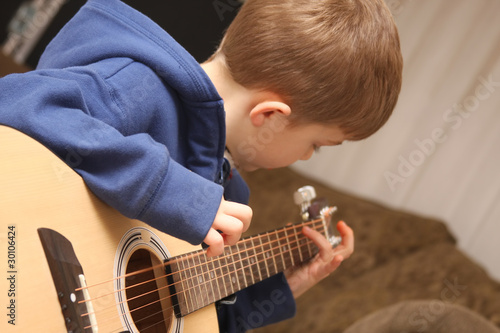 Strumming Guitar Boy