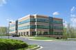 Leinwanddruck Bild - Modern Cube Office Building Parking Suburban MD