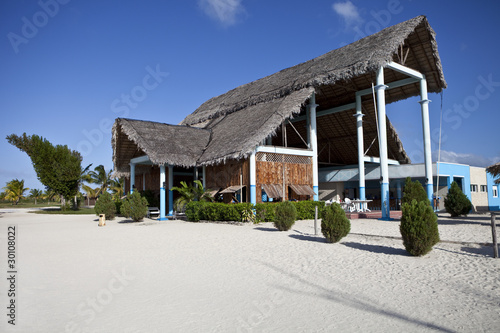 Beachfront Restaurant at an All Inclusive Resort in Cuba