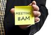 Meeting at 8AM