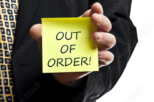 Out of order post it