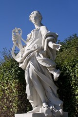 Vienna - statue of muse in Belvedere palace