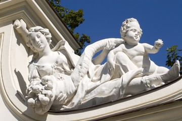 Vienna - Belvedere palace - detail from gate