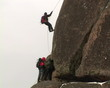 Climbing equipment. Stretching restraint tether.
