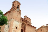 La Asuncion parish church Galve Teruel  Aragon Spain poster