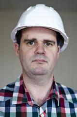 Portrait d'un ouvrier de chantier