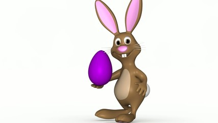 bouncing easter bunny with easter egg